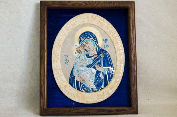 Икона Жировицкой (Жировичской) Божией Матери № 55 из мрамора, камня, изображение, фото 5