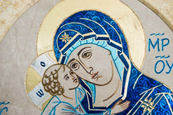 Икона Жировицкой (Жировичской) Божией Матери № 55 из мрамора, камня, изображение, фото 6