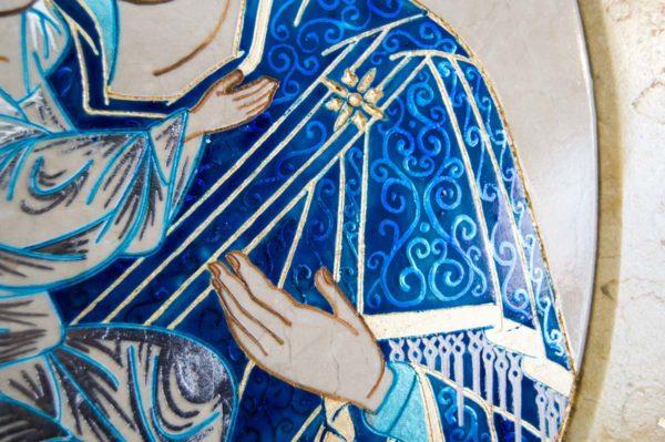 Икона Жировицкой (Жировичской) Божией Матери № 55 из мрамора, камня, изображение, фото 4