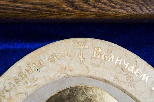 Икона Жировицкой (Жировичской) Божией Матери № 55 из мрамора, камня, изображение, фото 3