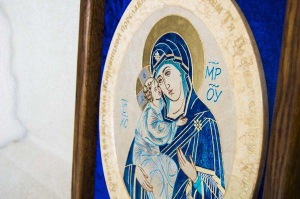 Икона Жировицкой (Жировичской) Божией Матери № 55 из мрамора, камня, изображение, фото 1