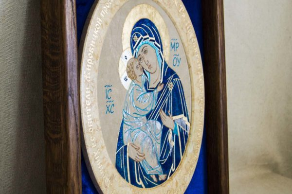 Икона Жировицкой (Жировичской) Божией Матери № 55 из мрамора, камня, изображение, фото 2