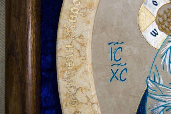 Икона Жировицкой (Жировичской) Божией Матери № 55 из мрамора, камня, изображение, фото 7