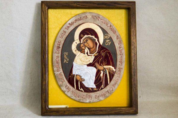 Икона Жировицкой (Жировичской) Божией Матери № 56 из мрамора, камня, изображение, фото 3