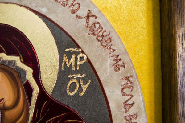 Икона Жировицкой (Жировичской) Божией Матери № 56 из мрамора, камня, изображение, фото 4