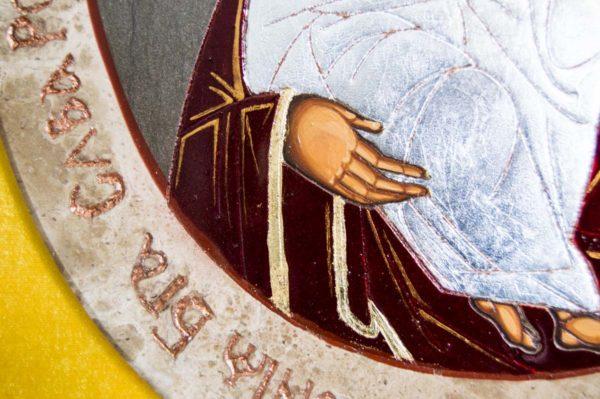 Икона Жировицкой (Жировичской) Божией Матери № 56 из мрамора, камня, изображение, фото 5
