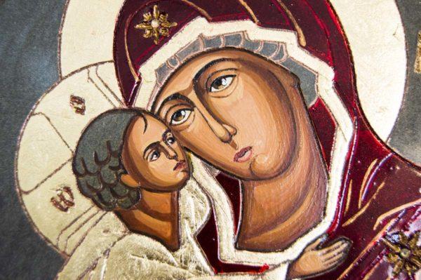 Икона Жировицкой (Жировичской) Божией Матери № 56 из мрамора, камня, изображение, фото 2