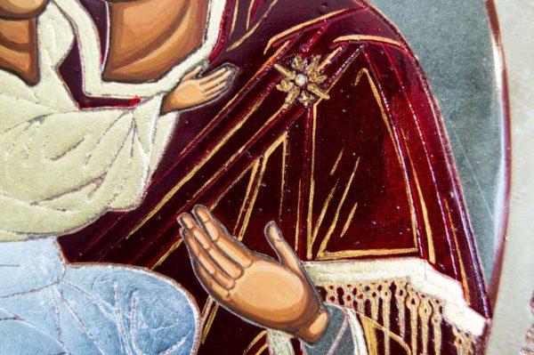 Икона Жировицкой (Жировичской) Божией Матери № 56 из мрамора, камня, изображение, фото 1