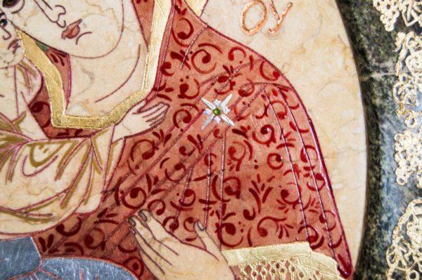 Икона Жировицкой (Жировичской) Божией Матери № 57 из мрамора, камня, изображение, фото 5