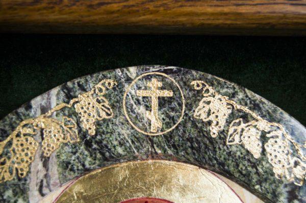 Икона Жировицкой (Жировичской) Божией Матери № 57 из мрамора, камня, изображение, фото 6