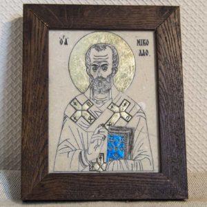 Икона Николая Чудотворца (Угодника) № 20 из мрамора, камня, изображение, фото 1