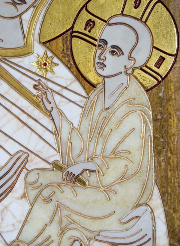 Икона Стокгольмской Божией Матери № 1 из мрамора, камня, изображение, фото 5