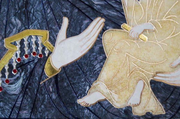 Икона Стокгольмской Божией Матери № 2 из мрамора, камня, изображение, фото 2