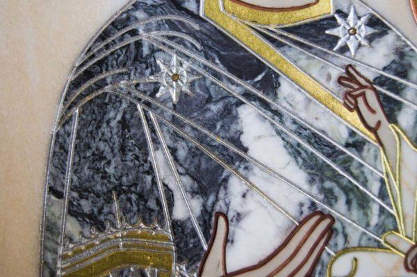 Икона Стокгольмской Божией Матери № 3 из мрамора, камня, изображение, фото 1