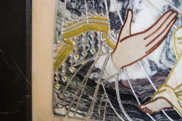 Икона Стокгольмской Божией Матери № 3 из мрамора, камня, изображение, фото 7