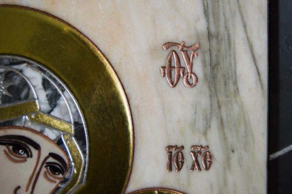 Икона Стокгольмской Божией Матери № 3 из мрамора, камня, изображение, фото 4