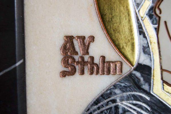 Икона Стокгольмской Божией Матери № 3 из мрамора, камня, изображение, фото 8