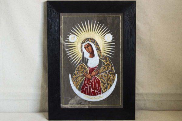Икона Остробрамской Божией Матери № 01 из мрамора, камня, изображение, фото 1