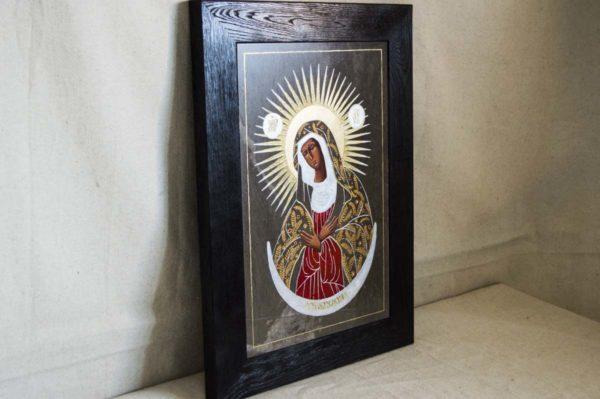 Икона Остробрамской Божией Матери № 01 из мрамора, камня, изображение, фото 4