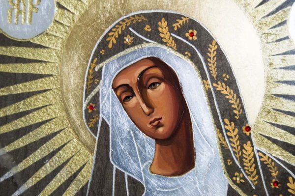 Икона Остробрамской Божией Матери № 01 из мрамора, камня, изображение, фото 5