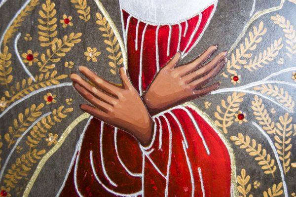 Икона Остробрамской Божией Матери № 01 из мрамора, камня, изображение, фото 2