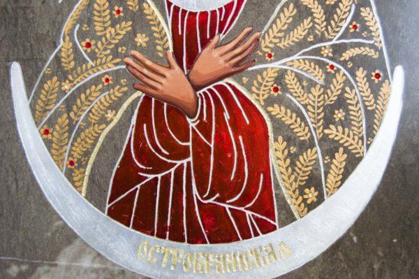 Икона Остробрамской Божией Матери № 01 из мрамора, камня, изображение, фото 6