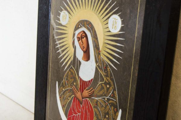 Икона Остробрамской Божией Матери № 01 из мрамора, камня, изображение, фото 3
