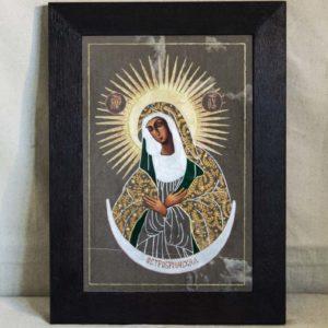 Икона Остробрамской Божией Матери № 02 из мрамора, камня, изображение, фото 4