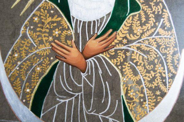 Икона Остробрамской Божией Матери № 02 из мрамора, камня, изображение, фото 2