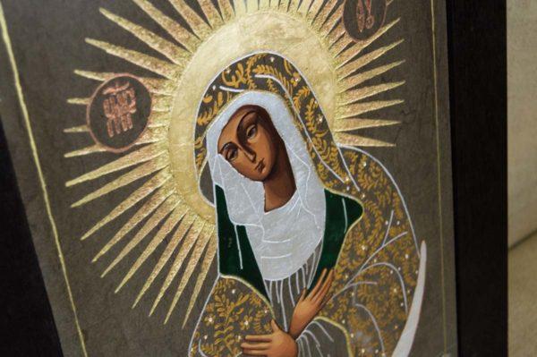 Икона Остробрамской Божией Матери № 02 из мрамора, камня, изображение, фото 6