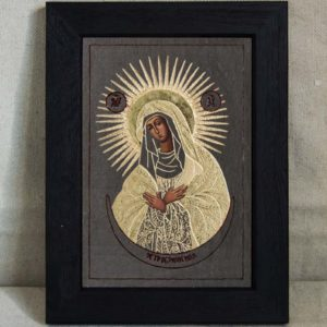 Икона Остробрамской Божией Матери № 03 из мрамора, камня, изображение, фото 5