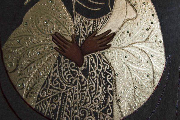 Икона Остробрамской Божией Матери № 03 из мрамора, камня, изображение, фото 4