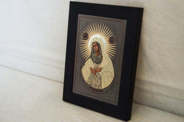 Икона Остробрамской Божией Матери № 03 из мрамора, камня, изображение, фото 1