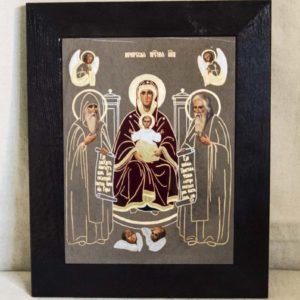 Икона Свенской (Печерской) Божией Матери № 1 из мрамора, камня, изображение, фото 1