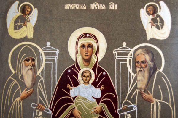 Икона Свенской (Печерской) Божией Матери № 1 из мрамора, камня, изображение, фото 3