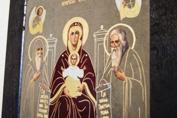 Икона Свенской (Печерской) Божией Матери № 1 из мрамора, камня, изображение, фото 6