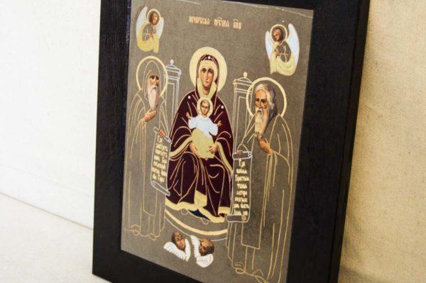 Икона Свенской (Печерской) Божией Матери № 1 из мрамора, камня, изображение, фото 5