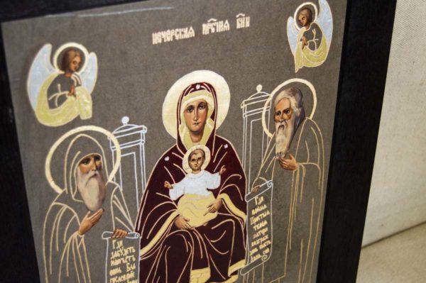 Икона Свенской (Печерской) Божией Матери № 1 из мрамора, камня, изображение, фото 4