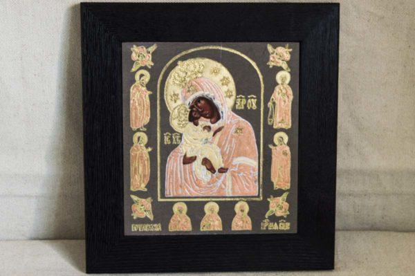 Икона Почаевской Божией Матери № 1 из мрамора, камня, изображение, фото 1