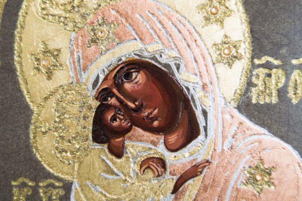 Икона Почаевской Божией Матери № 1 из мрамора, камня, изображение, фото 4