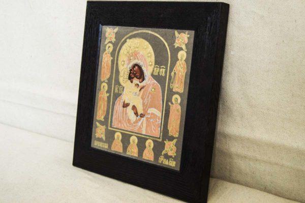 Икона Почаевской Божией Матери № 1 из мрамора, камня, изображение, фото 2