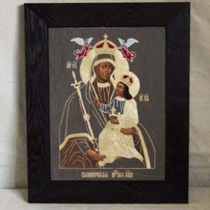 Икона Белыничской Божией Матери № 1 из мрамора, камня, изображение, фото 3