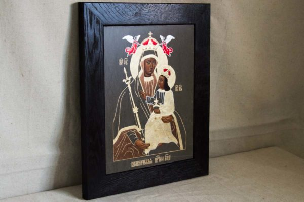 Икона Белыничской Божией Матери № 1 из мрамора, камня, изображение, фото 2
