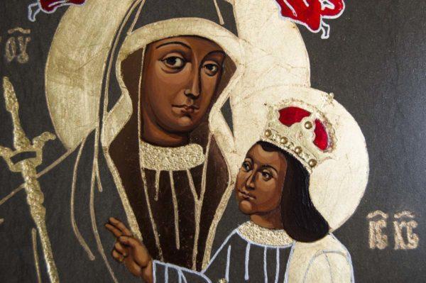 Икона Белыничской Божией Матери № 1 из мрамора, камня, изображение, фото 1