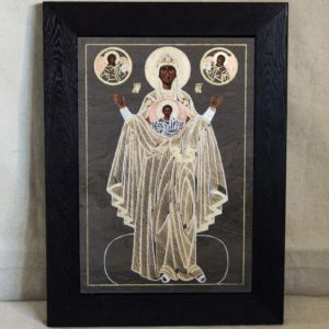 Икона Знамение Божией Матери № 1 из мрамора (Оранта), камня, изображение, фото 4