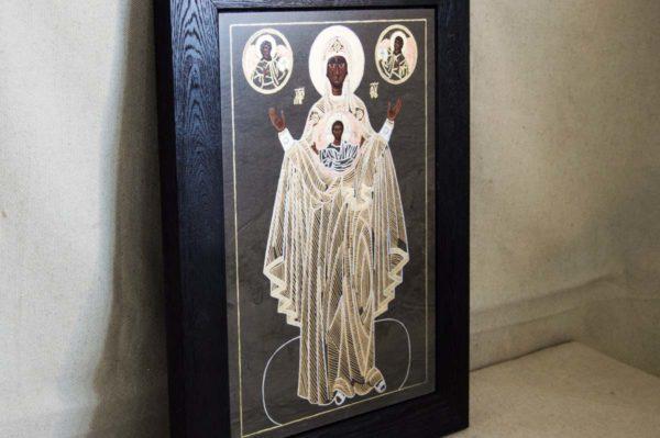 Икона Знамение Божией Матери № 1 из мрамора (Оранта), камня, изображение, фото 3