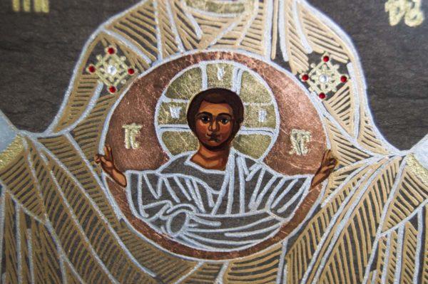 Икона Знамение Божией Матери № 1 из мрамора (Оранта), камня, изображение, фото 1