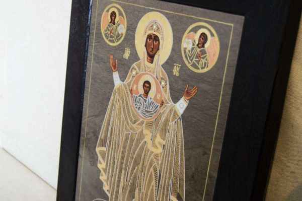 Икона Знамение Божией Матери № 1 из мрамора (Оранта), камня, изображение, фото 5