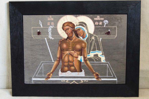 Икона Положение во Гроб № 1 из мрамора (Оранта), камня, изображение, фото 6