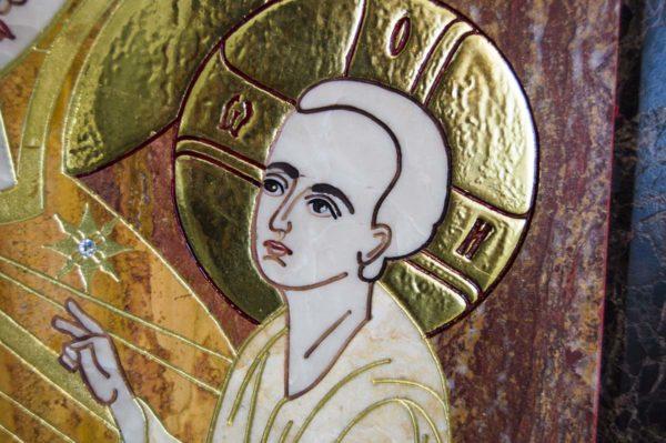 Икона Тихвинской Божией Матери № 1-12,7 из мрамора, камня, изображение, фото 6